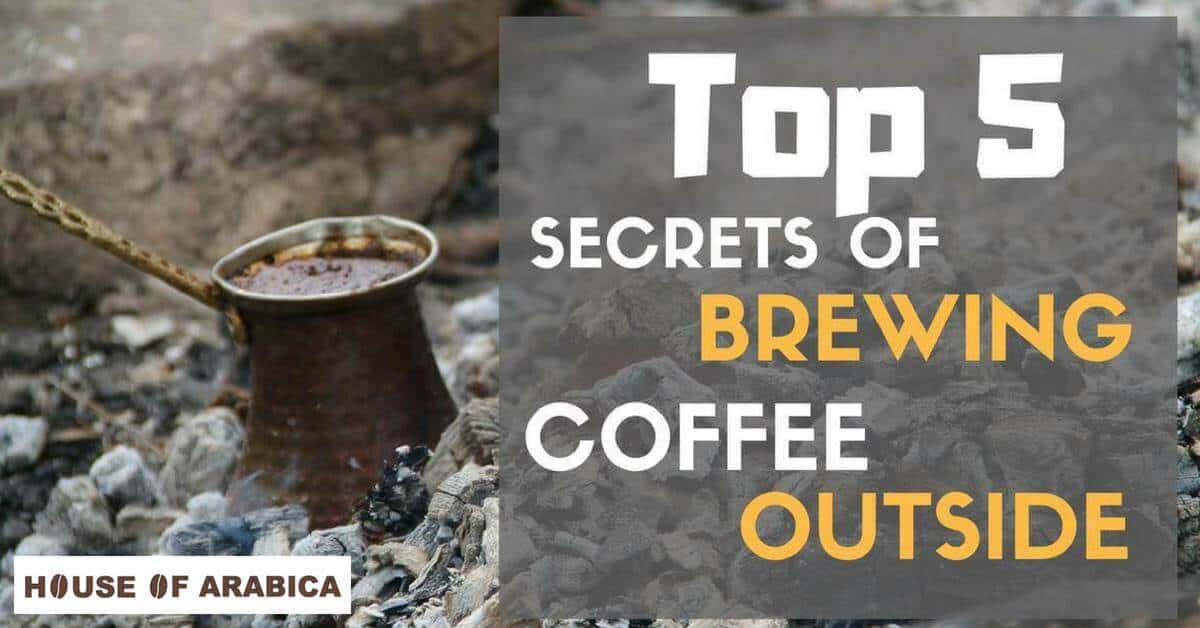 Secret Brewing coffee outside